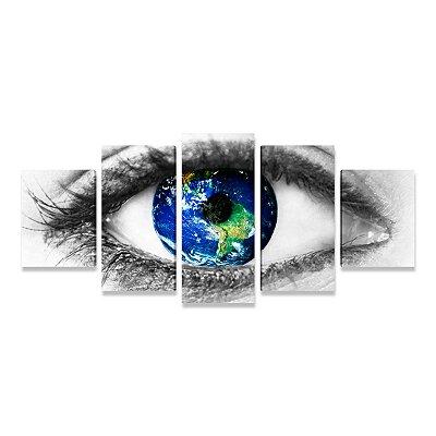 Quadro Consultório Médico Oftalmologia Olhos do Mundo - 5 telas