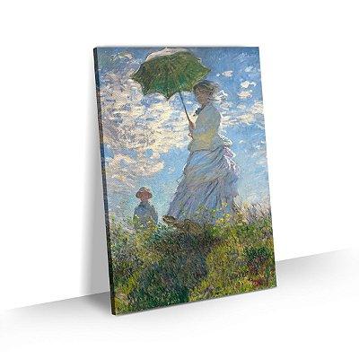 Quadro Claude Monet Mulher com Sombrinha Tela Canvas