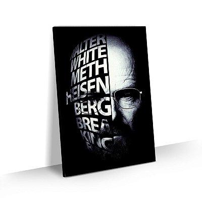 Quadro Breaking Bad Estilizado Walter White Heisenberg Face