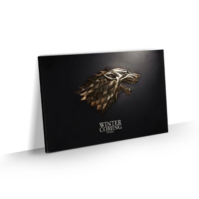 Quadro Game of Thrones Stark Lobo Decorativo