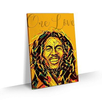 Quadro Bob Marley Estilizado One Love Decorativo Sala Quarto Escritório
