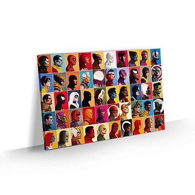 Quadro Super Heróis Marvel Decorativo Sala Quarto Escritório