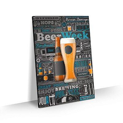 Quadro Cerveja Artesanal Beer Week Bar Churrasqueira Área Gourmet