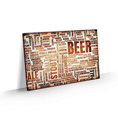 Quadro Cerveja Artesanal Words Bar Churrasqueira Área Gourmet