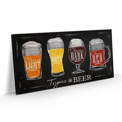 Quadro Tipos de Cerveja Decoração Churrasqueira Bar Área Gourmet