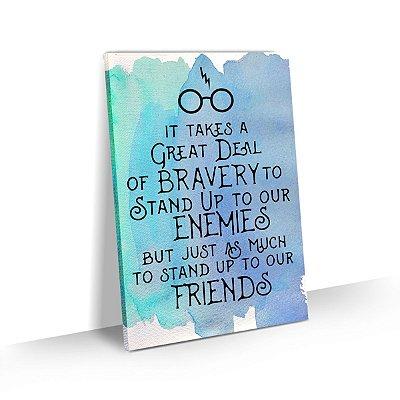 Quadro Harry Potter Frase Bravura Para Quarto Escritório