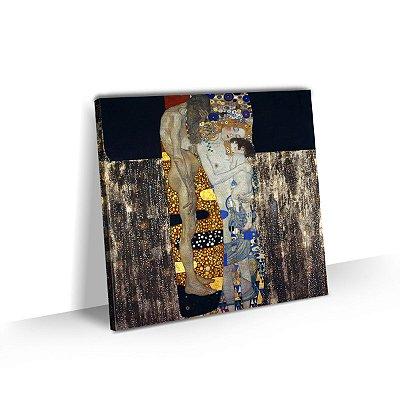 Quadro Gustav Klimt As 3 Idades da Mulher Tela Tecido Canvas Sala Quarto