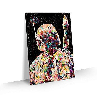 Quadro Star Wars - Boba Fett Estilizado Colorido