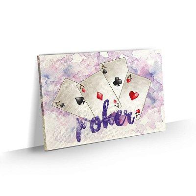 Quadro Poker Watercolor Quadra de Ases
