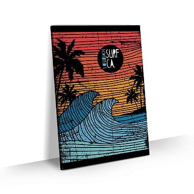 Quadro Surf Long Beach Vintage Retrô