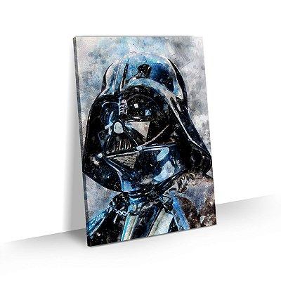 Quadro Star Wars Darth Vader Estilo Aquarela