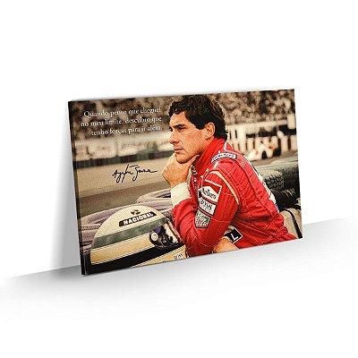 Quadro Ayrton Senna Frase Motivacional Limite