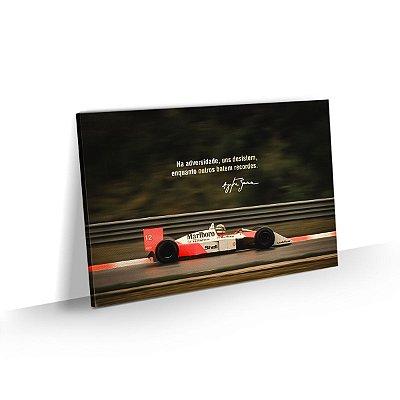 Quadro Ayrton Senna Frase Motivacional Adversidade