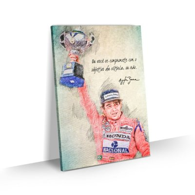 Quadro Ayrton Senna Frase Comprometimento