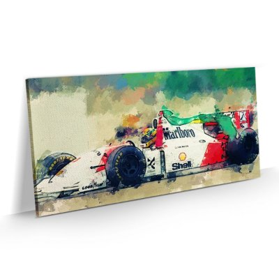 Quadro Ayrton Senna Fórmula 1 Arte
