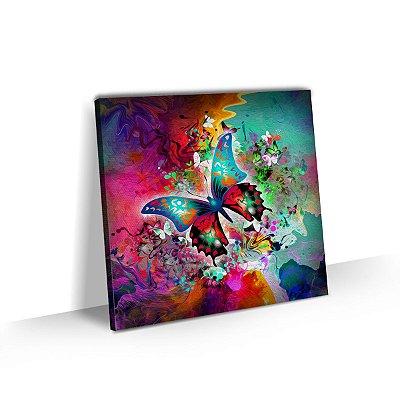 Quadro Decorativo Borboleta Colorida