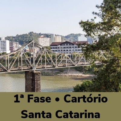 Estudo Diário - Curso completo para 1ª Fase • Cartório Santa Catarina