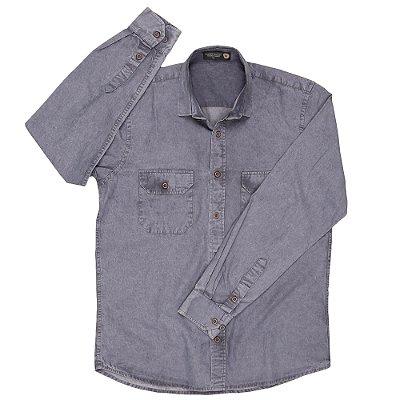 Uni Camisas Slim - Bolsos com Lapela