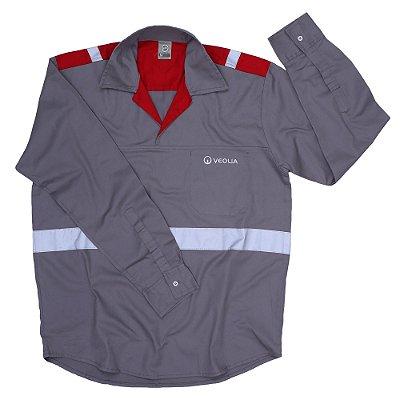 Uni Camisa Operacional ML Refletiva - Veolia