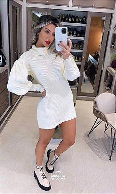 Blusa Em Tricô Alongada Mini Vest