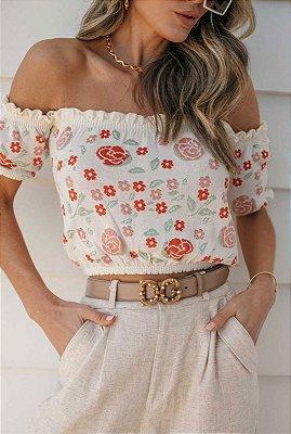 Blusa Em Tricot Modal Branca Larissa