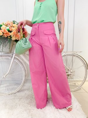 Calça Pantalona Julia Rosa
