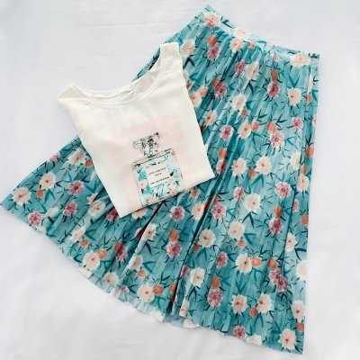 Conjunto Saia e Blusa Floral