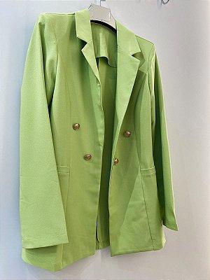 Blazer Com Botões Milena Verde Lima
