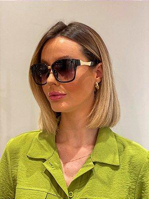 Óculos De Sol Quadrado Preto Classic