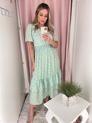 Vestido Verde Chá Ana