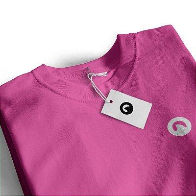 Camiseta Básica Baby Look - Rosa