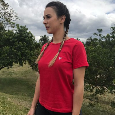 Camiseta Básica Baby Look - Vermelha