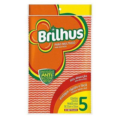 Pano Brilhus Multiuso com 5 unidades - Bettanin