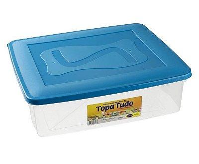 Caixa Organizadora 18 Litros Com Tampa - Cores Sortidas - Plástico Santana