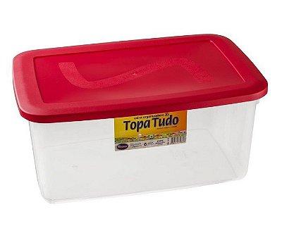 Caixa Organizadora 20 Litros Com Tampa - Cores Sortidas - Plástico Santana