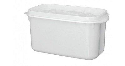 Caixa Organizadora DU Cheff  3,7 Litros Branca Com Tampa - Plástico Santana