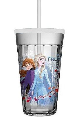 Copo Americano Frozen 450ml C/ Tampa  S/ Canudo - Disney - Nadir Figueiredo