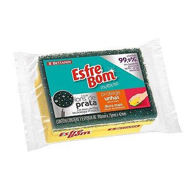 Esponja Esfrebom Protege Unhas - Bettanin - Pacote com 12 unidades
