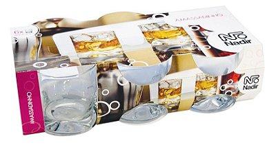 Jogo Copo Amassadinho Whisky 250ml Com 6 unidades - Nadir Figueiredo