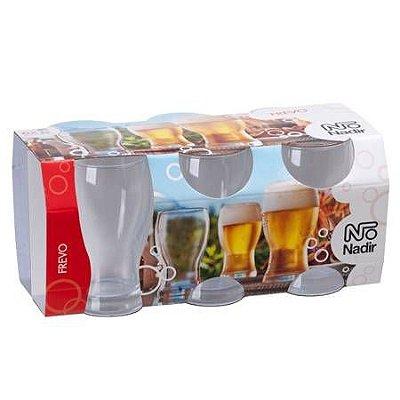 Jogo de Copo Frevo Cerveja 320ml Com 6 unidades - Nadir Figueiredo