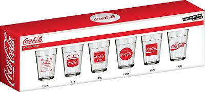 Jogo Copo Americano Linha do Tempo Coca-Cola 190ml Com 6 unidades - Nadir Figueiredo
