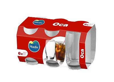 Jogo de Copo Oca Long Drink 300ml Com 6 unidades - Nadir Figueiredo