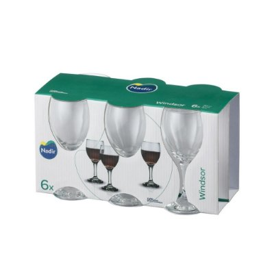 Jogo Taça Windsor Vinho Tinto 250ml Com 6 unidades – Nadir Figueiredo