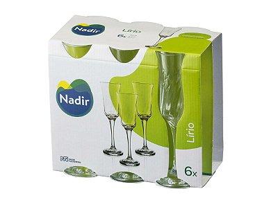 Jogo de Taça Lírio Champagne 195ml Com 6 unidades - Nadir Figueiredo