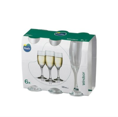 Jogo Taça Windsor Champagne 210ml Com 6 unidades - Nadir Figueiredo