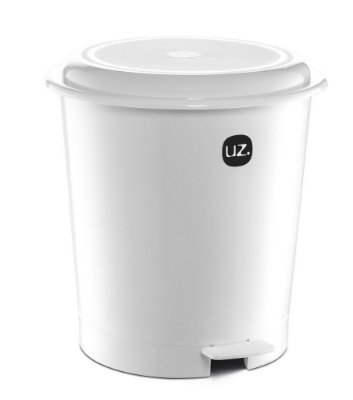 Lixeira 12 Litros Plus Branco Sólido - UZ