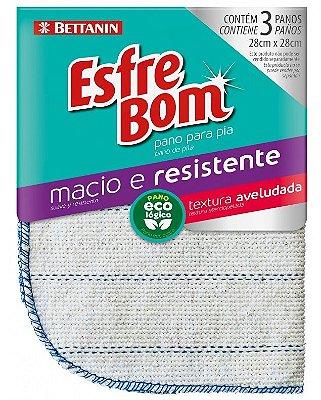 Pano Esfrebom Algodão Cru para Pia com 3 unidades - Bettanin