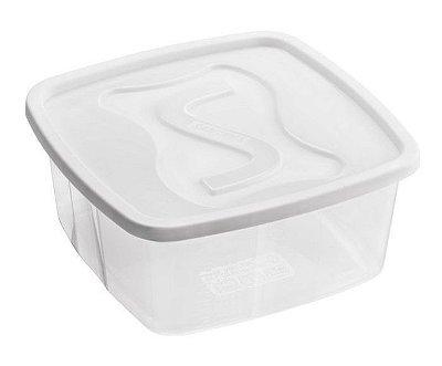 Pote Quadrado 2,5 Litros - Cores Sortidas - Plástico Santana