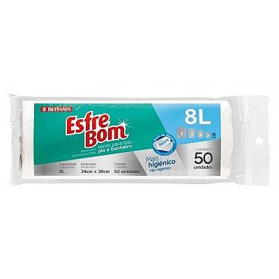 Saco para Lixo Pia/Banheiro Rolo Esfrebom 8 Litros - Pacote com 50 unidades - Bettanin