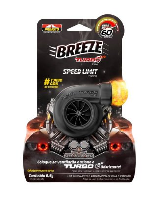 Odorizante Breeze Turbo Ar Limite Velocidade 6,5g - Proauto